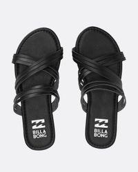 Billabong - Black Sandy Toes Slide Sandal - Lyst