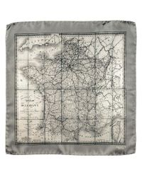 Black.co.uk - Multicolor 'old France' Italian Silk Pocket Square for Men - Lyst