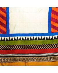 Black.co.uk Multicolor Carmen Organic Silk Scarf