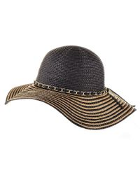 Black.co.uk - Black And Gold Striped Sun Hat - Lyst