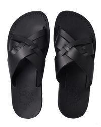 Jerusalem Sandals Black Jesse for men