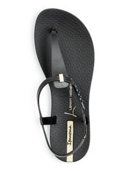 Ipanema - Black Women's Premium Lenny Desire Thong Sandals - Lyst