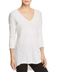 XCVI - White Ida Textured Sweater - Lyst
