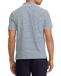 Polo Ralph Lauren - Blue Striped Custom Slim Fit Jersey Polo Shirt for Men - Lyst
