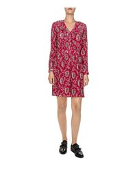 The Kooples - Red Rodeo Snake Printed Silk Dress - Lyst