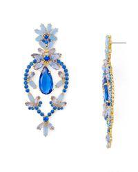 Kate Spade - Blue Statement Earrings - Lyst