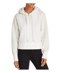 Rag & Bone - White Fleece Hoodie Pullover - Lyst
