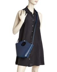 Elizabeth and James - Blue Market Small Leather And Suede Tote - Lyst