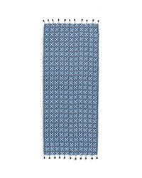 Tory Burch - Blue Batik Tassel Oblong Scarf - Lyst