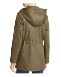 Kate Spade - Green Scalloped Pocket Raincoat - Lyst