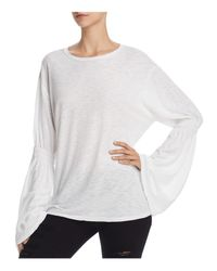 Michelle By Comune - White Monticello Bishop-sleeve Top - Lyst