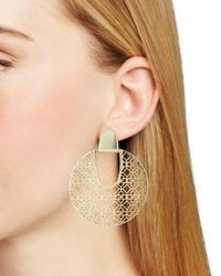 Kendra Scott - Metallic Diane Latticework Medallion Drop Earrings - Lyst