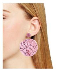 BaubleBar - Pink Queenie Sequin Earrings - Lyst