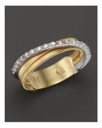 Marco Bicego - Metallic 18k Yellow Gold Goa Three Row Ring With Diamonds - Lyst