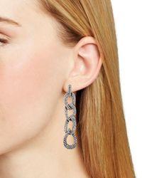 Aqua - Multicolor Linked Drop Earrings - Lyst