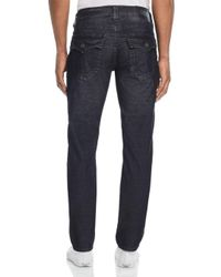 True Religion Geno Straight Slim Corduroy Pants In Black for men