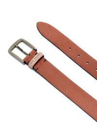 Ted Baker - Multicolor Trinnie Suede Micro Perforated Belt for Men - Lyst