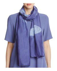 Eileen Fisher | Blue Shibori Dyed Print Scarf | Lyst