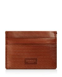 Shinola - Brown Embossed Card Case - Lyst