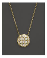 "Dana Rebecca - 14k Yellow Gold Diamond Lauren Joy Large Necklace, 16"" - Lyst"