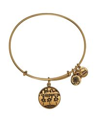 ALEX AND ANI | Metallic Miami Ii Expandable Wire Bangle | Lyst