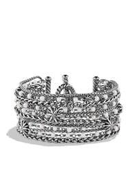 David Yurman - Metallic Starburst Chain Bracelet With Pearls - Lyst