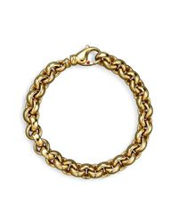 Roberto Coin - Metallic 18k Yellow Gold Small Round Link Bracelet - Lyst