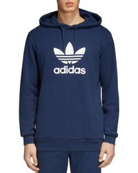 Adidas Originals - Blue Trefoil Hoodie for Men - Lyst