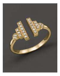 Dana Rebecca | Pink 14k Yellow Gold And Diamond Combo Ring, .15 Ct. T.w. | Lyst