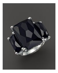 Ippolita - Sterling Silver Rock Candy 3-stone Ring In Black Onyx - Lyst