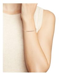Jennifer Zeuner - Metallic Chelsea Horizontal Bar Bracelet - Lyst