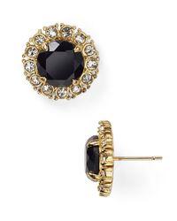 Kate Spade | Black Secret Garden Stud Earrings | Lyst