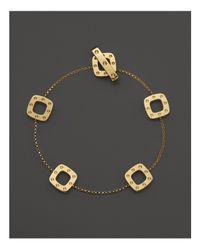 Roberto Coin - Metallic 18k Yellow Gold Pois Moi Square Station Bracelet - Lyst