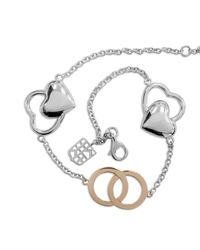 Frederique Constant - Pink Sterling Silver And 18k Rose Gold Bracelet - Lyst