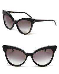 Wildfox | Black Grand Dame Exaggerated Cat Eye Sunglasses, 58mm | Lyst