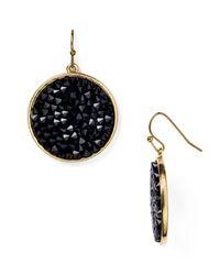 ABS By Allen Schwartz | Metallic Bead Set Drop Earrings | Lyst