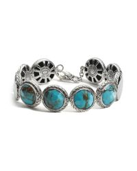 John Hardy | Blue Sterling Silver Palu Disc Bracelet With Turquoise | Lyst