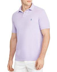 Polo Ralph Lauren - Purple Slim Fit Short Sleeve Polo Shirt for Men - Lyst