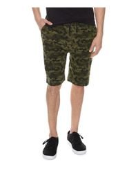 2xist | Green Terry Camouflage Lounge Sweat Shorts for Men | Lyst