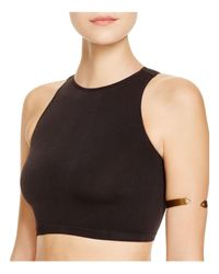 Free People | White Top - High Neck Seamless Crop | Lyst