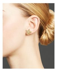 Temple St. Clair - Metallic 18k Yellow Gold Sea Star Earrings With Diamonds - Lyst