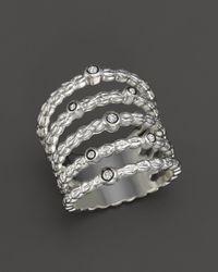 Ippolita | Metallic Lollipop Diamond Five-band Textured Ring In Sterling Silver, .11 Ct. T.w. | Lyst