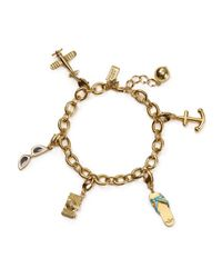 Kate Spade - Metallic How Charming Link Bracelet - Lyst