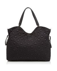 Tory Burch | Black Diaper Bag - Quilted Slouchy | Lyst