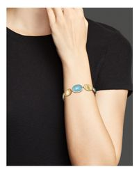 Marco Bicego - Metallic 18k Yellow Gold Lunaria Bracelet With Aquamarine - Lyst