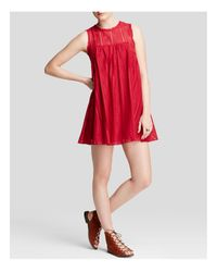 Free People | Red Dress - Tu Es La Mini | Lyst