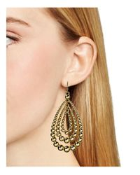 Aqua | Metallic Polly Teardrop Earrings - 100% Exclusive | Lyst