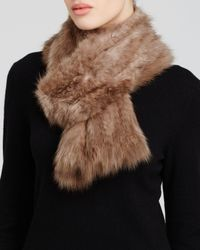 Maximilian | Brown Maximilian Knitted Sable Scarf | Lyst