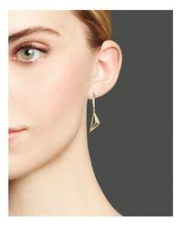 KC Designs - Metallic Diamond Pyramid Drop Earrings In 14k Yellow Gold - Lyst
