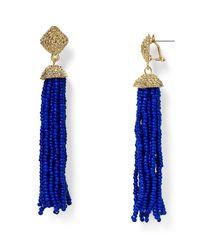 Aqua | Blue Leslie Tassel Drop Earrings | Lyst
